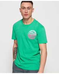 Superdry Ticket Type Oversized Fit T-shirt - Green