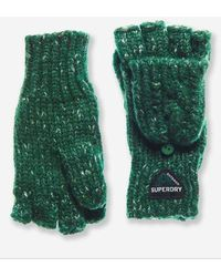 Superdry Gracie Cable Gloves - Green