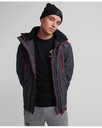Superdry Hooded Polar Sd-windattacker Jacket - Grey