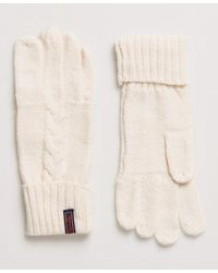 Superdry Lannah Cable Gloves - Natural