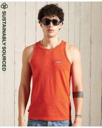 Superdry Camiseta de tirantes clásica en algodón orgánico - Naranja