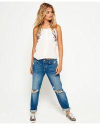 Superdry Harper Boyfriend Jeans - Blue