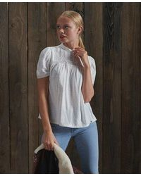Superdry Belle Blouse - White