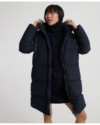 Superdry Premium Down Louisa Coat - Blue