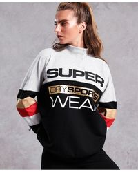 Superdry Sudadera con cuello redondo Street Sports City - Gris