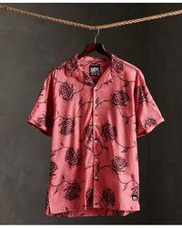 Superdry Hawaiian Box Fit Overhemd Met Korte Mouwen - Roze