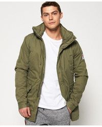 Superdry Rookie Military Parka Jacket - Green