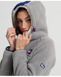 Superdry Celsius Sherpa Hoodie - Grey