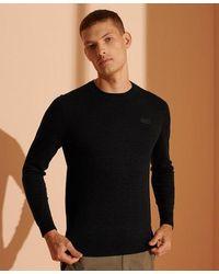 Superdry Orange Label Crew Sweater - Black