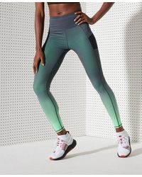 Superdry Sport Running Sprint Leggings - Green