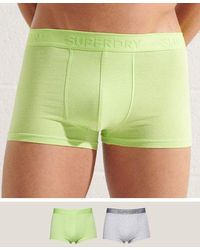 Superdry Pack de 2 calzoncillos clásicos de algodón orgánico - Rosa