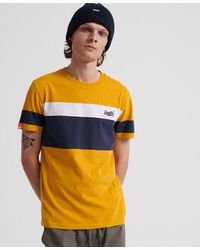 Superdry Orange Label Chestband Organic Cotton T-shirt - Yellow