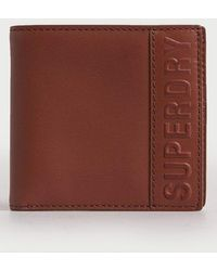 Superdry Vermont Bifold Leather Wallet - Brown