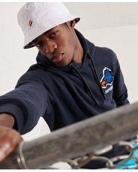 Superdry Sport Modern Franchise Hoodie - Blue