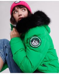 Superdry Cazadora bómber Everest Ella - Verde