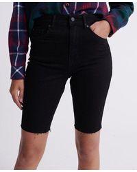 Superdry Kari Long Line Shorts - Black