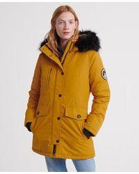 Superdry Ashley Everest Parka Jacket - Yellow