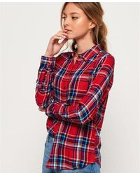 Superdry Anneka Check Shirt - Red