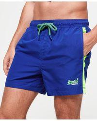 Superdry Short de bain Beach Volley - Bleu