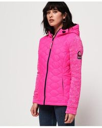 Superdry Sd Storm Quilted Hybrid Jacket - Pink