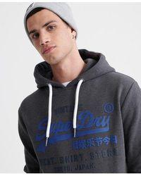 Superdry Duo Hooded Sweatshirt - Grey