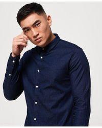 Superdry - Tailored Indigo Slim Shirt - Lyst