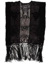 Superdry Vintage Folk Stitch Kimono Top - Black