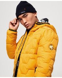 Superdry Hex Quilted Jacket - Yellow