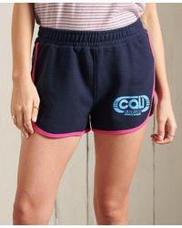 Superdry Short en jersey Cali - Bleu
