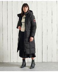 Superdry Longline Everest Coat - Black