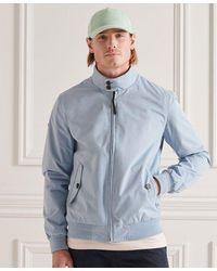 Superdry Iconic Harrington Jacket - Blue