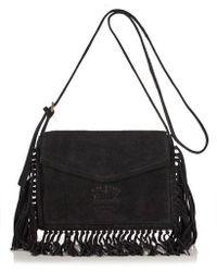 Superdry - Premium Suede Neo Nomad Fringed Shoulder Bag - Lyst