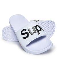 Superdry Pool Badslippers - Wit
