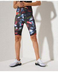 Superdry Sport Training Essential Tight Shorts - Blue