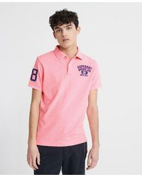 Superdry Classic Superstate Polo Shirt - Pink