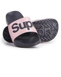 Superdry Pool Badslippers - Roze