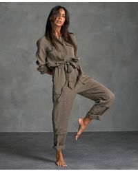 Superdry Desert Military Jumpsuit - Green