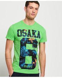 Superdry Osaka Hibiscus Infill T-shirt - Green