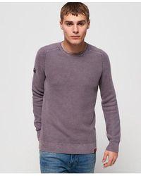 Superdry - Garment Dyed L.a Textured Crew Jumper - Lyst