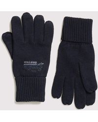 Superdry Orange Label Gloves - Blue