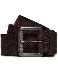 Superdry Master Perforated Leather Belt - Brown