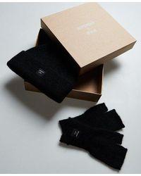 Superdry Conjunto para regalo de bufanda y guantes Super Lux - Blanco
