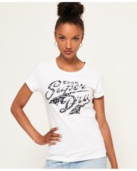 Superdry Paisley Stacker T-shirt - White