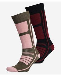 Superdry Sport Pack de dos pares de calcetines de montaña en lana merina - Verde