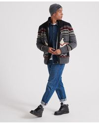 Superdry Icon Brynner Cardigan - Gray