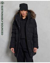 Superdry Manteau boyfriend en duvet Premium - Noir