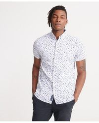 Superdry Classic Shoreditch Print Short Sleeved Shirt - White