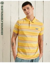 Superdry - Organic Cotton Vintage Stripe Jersey Polo Shirts - Lyst