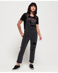 Superdry Utility Dungarees - Black