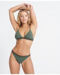 Superdry Sahara Fixed Tri Bikini Top - Green